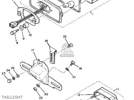 Yamaha Xs850sg 1980 parts list partsmanual partsfiche