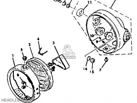 Yamaha Xt125 Dual Purpose 1982 (c) Usa parts list