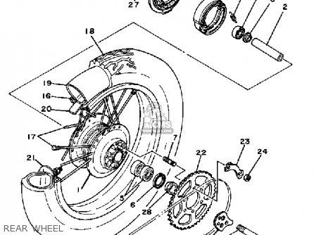 Yamaha XT125 DUAL PURPOSE 1983 (D) USA parts lists and