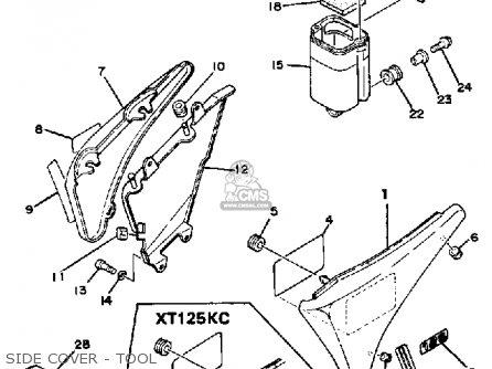 Yamaha Xt125c Dual Purpose 1983 (d) Usa parts list