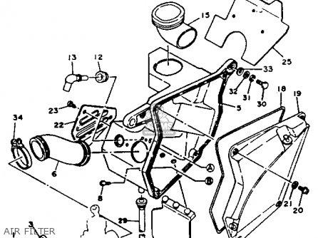 Yamaha Xt125j Dual Purpose 1982 parts list partsmanual