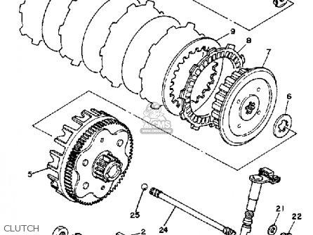 Yamaha Xt125kc Dual Purpose 1983 parts list partsmanual