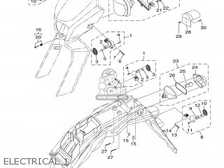 Yamaha XT125R 2007 13D3 EUROPE 1F13D-300EK parts lists and