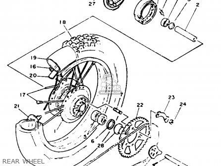 Yamaha Xt225 Xt225c 1993 (p) Usa California parts list