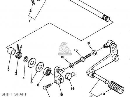 Yamaha XT225 XT225C 1993 (P) USA CALIFORNIA parts lists