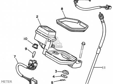 Yamaha XT225 XT225C 1996 (T) USA CALIFORNIA parts lists
