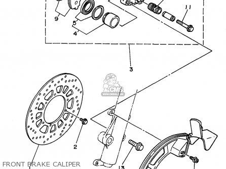 Yamaha Xt225 Xt225c 1998 (w) Usa California parts list