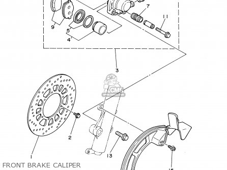 Yamaha Xt225 Xt225c 2000 (y) Usa California parts list