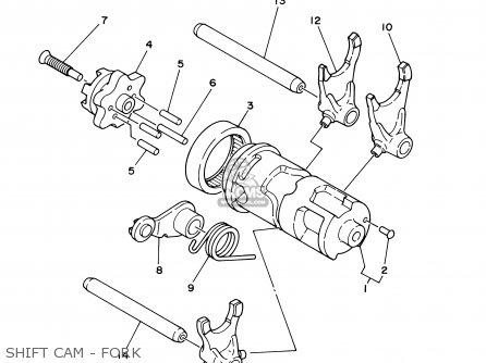 Yamaha XT225 XT225C 2000 (Y) USA CALIFORNIA parts lists