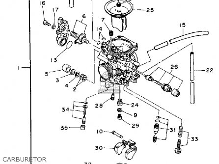 Yamaha Xt225 Carburetor Diagram, Yamaha, Free Engine Image