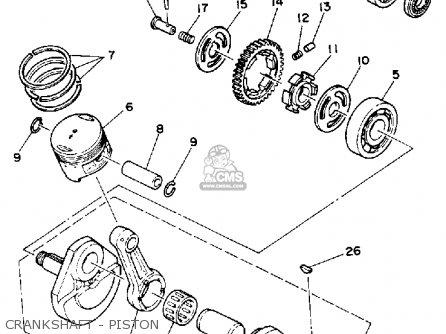 Yamaha Xt225d/dc 1992 parts list partsmanual partsfiche