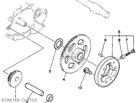 Yamaha Xt225f/fc 1994 parts list partsmanual partsfiche