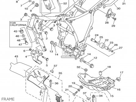 Yamaha Xt225r/rc 2003 parts list partsmanual partsfiche