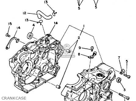 Yamaha XT250 DUAL PURPOSE 1980 (A) USA parts lists and