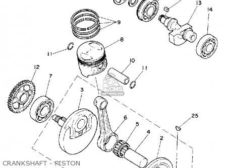 Yamaha Xt250 Dual Purpose 1980 (a) Usa parts list