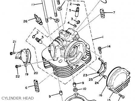 Yamaha XT250 DUAL PURPOSE 1982 (C) USA parts lists and