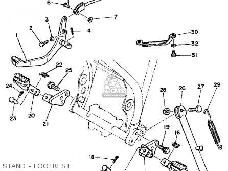 Yamaha Xt250 Dual Purpose 1983 (d) Usa parts list