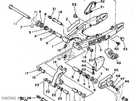 Yamaha Xt250c Dual Purpose 1984 (e) California parts list
