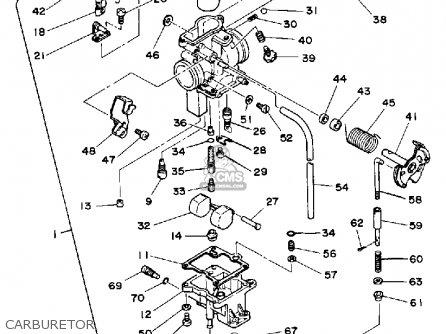 Yamaha Xt250g Dual Purpose 1980 parts list partsmanual