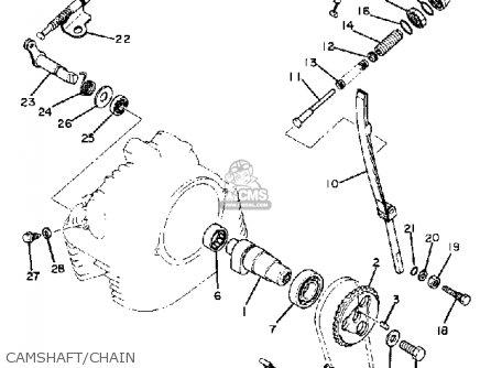 Yamaha Xt250h Dual Purpose 1981 parts list partsmanual