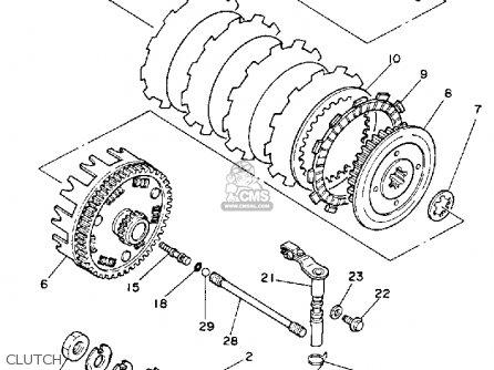 Yamaha Xt250l Dual Purpose 1984 parts list partsmanual