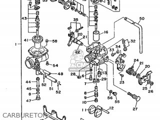 Yamaha Xt350 1986 55v Europe 2655v-300e1 parts list