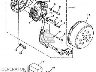 Yamaha Xt350 1987 55v France 2755v-351f1 parts list