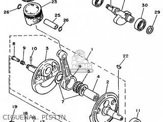 Yamaha XT350 1987 55V SPAIN 2755V-352S1 parts lists and