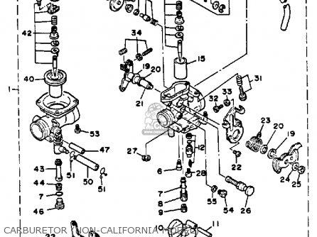 Yamaha XT350 1991 (M) USA parts lists and schematics