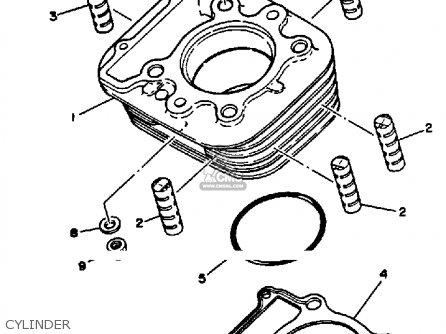 Yamaha XT350 1991 (M) USA parts lists and schematics