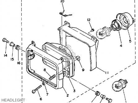 Yamaha Xt350 1993 (p) Usa parts list partsmanual partsfiche