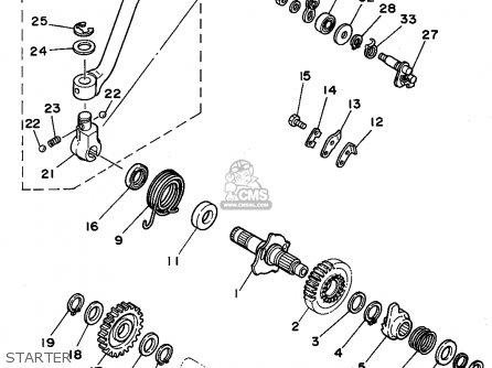Yamaha XT350 1994 (R) USA parts lists and schematics