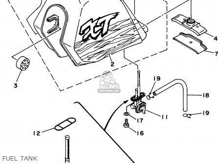 Yamaha Xt350 1995 (s) Usa parts list partsmanual partsfiche