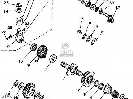 Yamaha XT350 1995 (S) USA parts lists and schematics