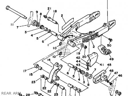 Yamaha XT350 DUAL PURPOSE 1985 (F) USA parts lists and