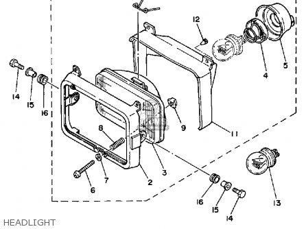 Yamaha Xt350 Dual Purpose 1986 (g) Usa parts list
