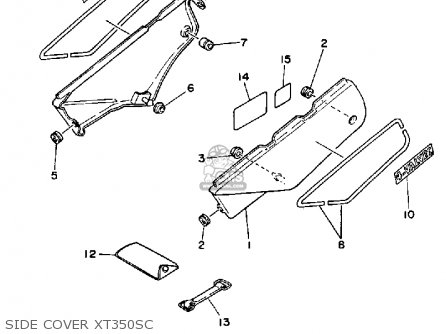 Yamaha XT350 DUAL PURPOSE 1986 (G) USA parts lists and