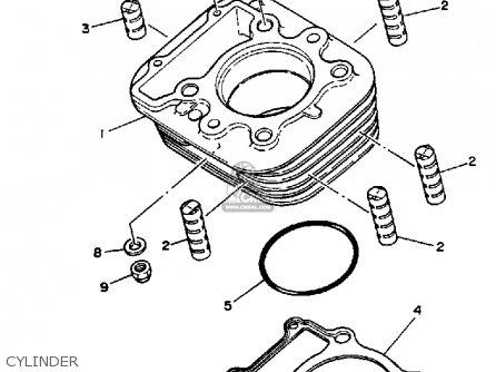 Yamaha Xt350 Dual Purpose 1987 (h) Usa parts list