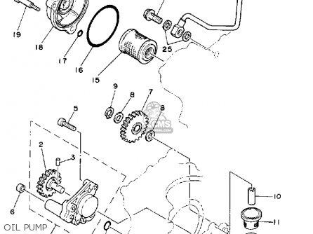 Yamaha XT350 DUAL PURPOSE 1988 (J) USA parts lists and