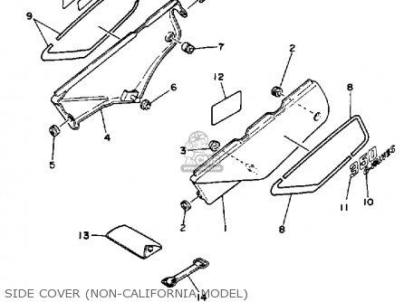 Yamaha XT350 DUAL PURPOSE 1989 (K) USA parts lists and