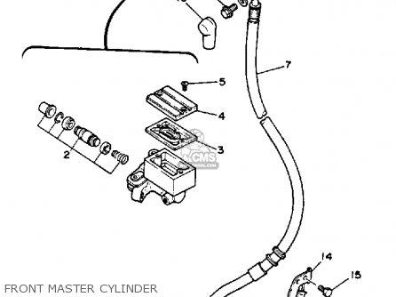 Yamaha XT350 DUAL PURPOSE 1990 (L) USA parts lists and