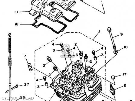 Yamaha XT350 DUAL PURPOSE 1992 (N) USA parts lists and