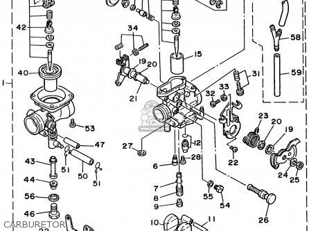 Yamaha Xt350c 1995 (s) California parts list partsmanual