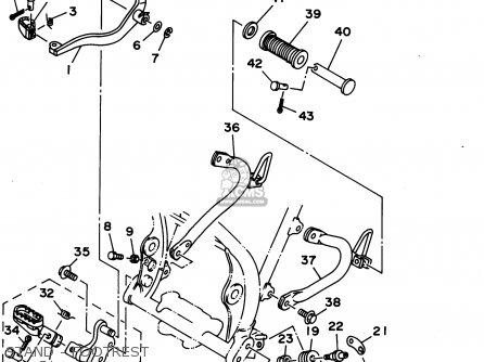 Yamaha XT350C 1995 (S) CALIFORNIA parts lists and schematics