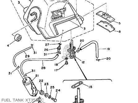 Yamaha Xt350c Dual Purpose 1985 (f) California parts list