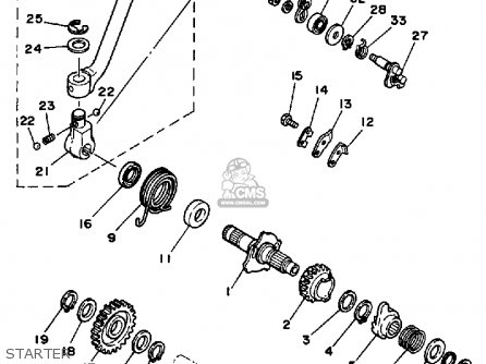 Yamaha XT350C DUAL PURPOSE 1987 (H) CALIFORNIA parts lists