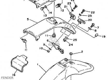 Yamaha Xt350c Dual Purpose 1989 (k) California parts list