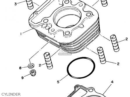 Yamaha Xt350f 1994 parts list partsmanual partsfiche