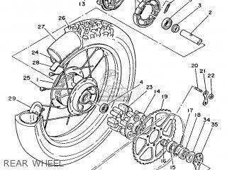 Yamaha XT350H (20KW) 1987 59Y GERMANY 2759Y-332G1 parts