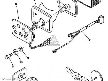 Yamaha Xt350t Dual Purpose 1987 parts list partsmanual